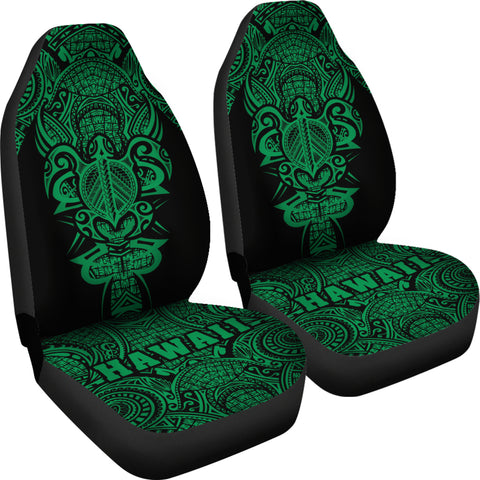 Image of Hawaii Turtle Polynesian Car Seat Cover - Green - Armor Style - AH J9