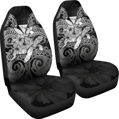 Image of Hawaii Turtle Wave Polynesian Car Seat Cover - Hey Style Gray - AH - J4