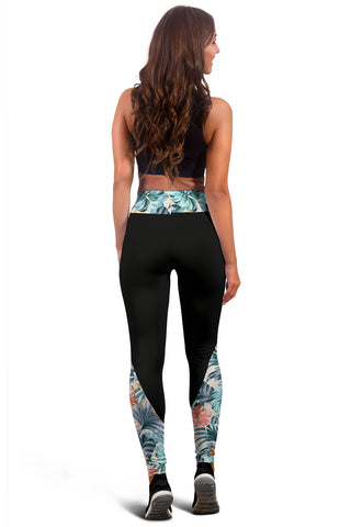 Hawaii Hibiscus Tropical Vintage Seamless Leggings - AH J9 - Alohawaii