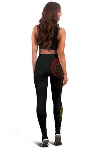 Hawaii Tattoo Swirly Polynesian Women's Leggings - AH - JG - Alohawaii