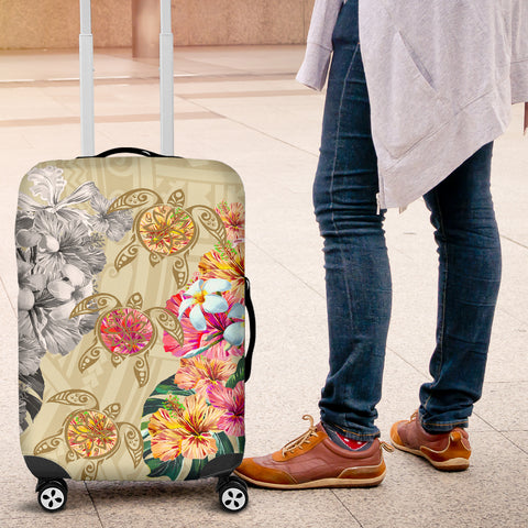 Hawaii Polynesian Flowers Swimming Turtles Luggage Covers - AH - J5 - Alohawaii