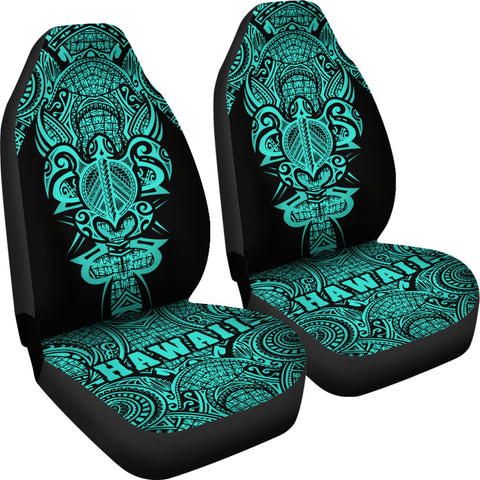 Hawaii Turtle Polynesian Car Seat Cover - Turquoise - Armor Style - AH J9