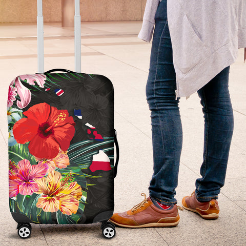 Image of Alohawaii Luggage Covers - Hawaii Map Hibiscus - AH J0 - Alohawaii