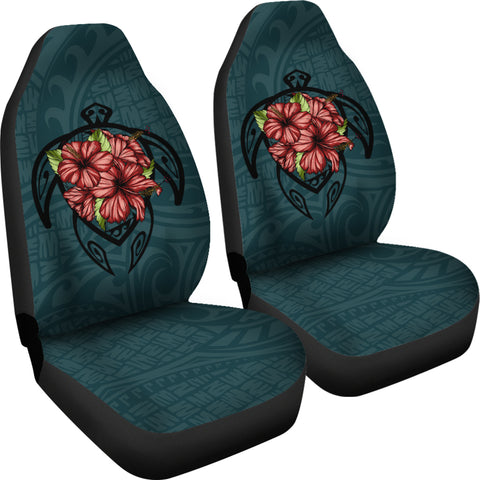 Hawaii Turtle Hibiscus Polynesian Car Seat Covers - AH J4 - Alohawaii