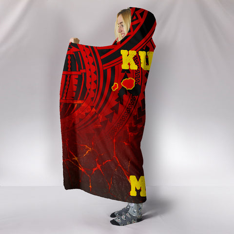 Image of Hawaii Hooded Blanket - Protect Mauna Kea Map - AH - J6 - Alohawaii