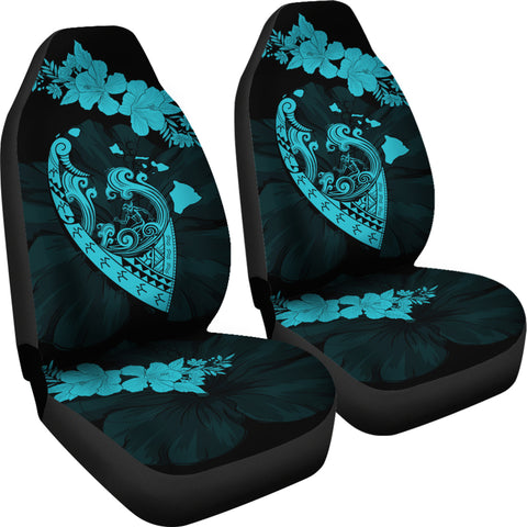 Hawaii Hibiscus Banzai Surfing Car Seat Cover V2 Blue - AH - J5 - Alohawaii