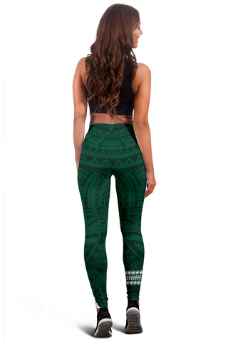 Hawaii Warrior Helmet Football Green Kakau Women's Leggings - AH - J1