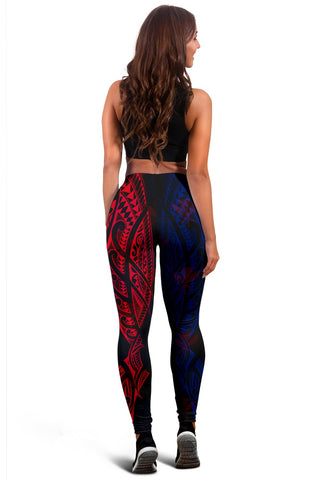 Hawaiian Kanaka Women's Leggings Flag Nation Black Demodern AH J1