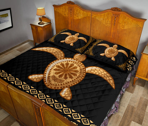 Polynesian Turtle Quilt Bed Set