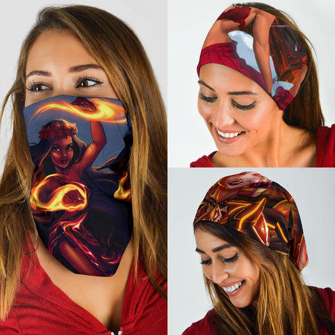 Image of Hawaii Goddess Pele Dancing Bandana 3-Pack - AH - J5 - Alohawaii