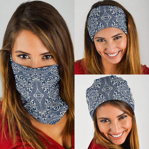 Polynesian Culture Blue White Bandana 3-Pack