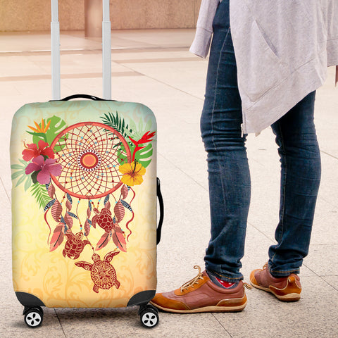 Hibiscus And Turtle Luggage Cover 01 - AH - Alohawaii