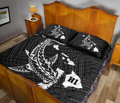 Image of Hawaii Shark Quilt Bed Set