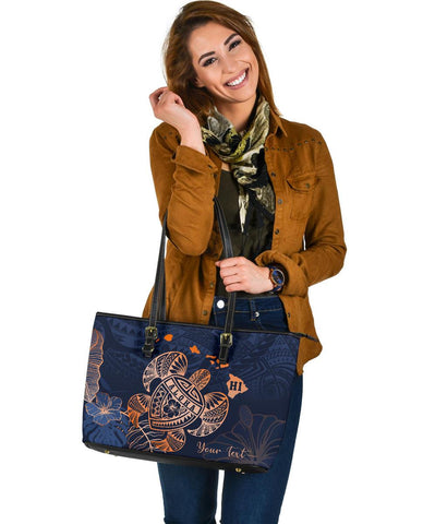 Hawaii Large Leather Tote - AH