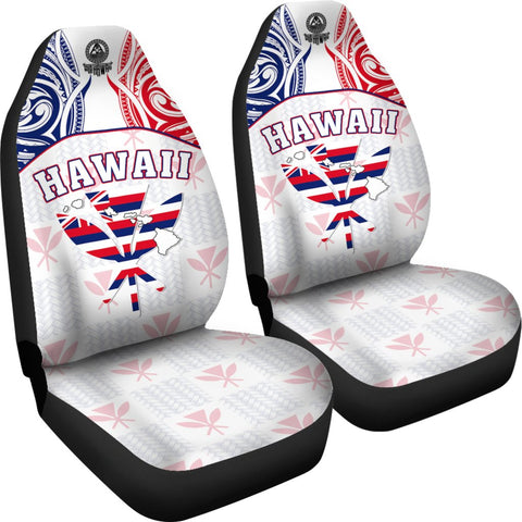 Hawaiian Kanaka Car Seat Covers Flag Nation Demodern White AH J1