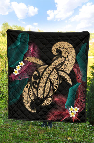 Image of Hawaii Turtle Polynesian Tropical Premium Quilt - Ghia Style Gold - AH - J4