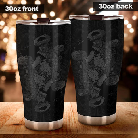 Hawaii Polynesian Hula Girl Tumbler Grey - AH - J5 - Alohawaii