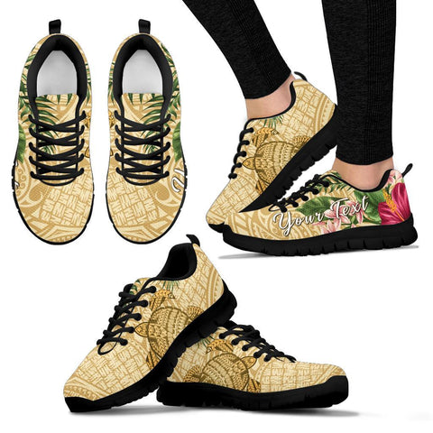 Image of Alohawaii Sneakers - Turtle Sneakers Strong Pattern Hibiscus Plumeria AH J1