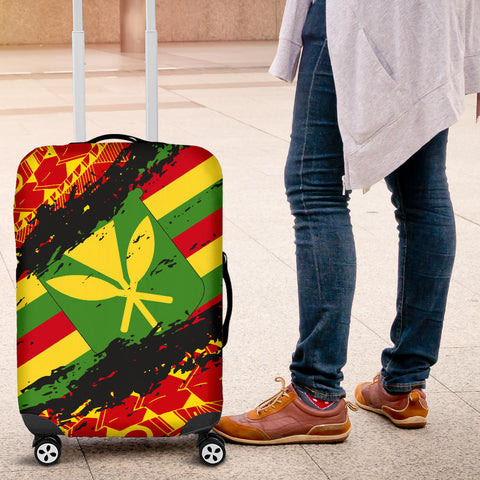 Image of Kanaka Flag Polynesian Luggage Covers - Nora Style - AH J9 - Alohawaii
