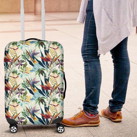Hawaii Seamless Tropical Flower Plant And Leaf Luggage Cover - AH - J1 - Alohawaii