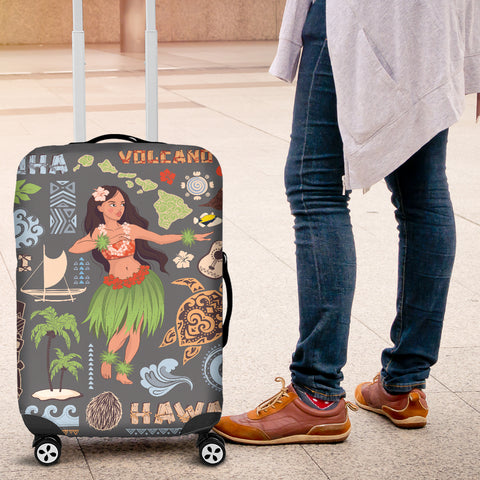 Hawaiian Hula Luggage Cover - AH - J9 - Alohawaii