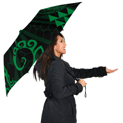 Seal Of Hawaii Polynesian Umbrella Green - Circle Style - AH J4 - Alohawaii