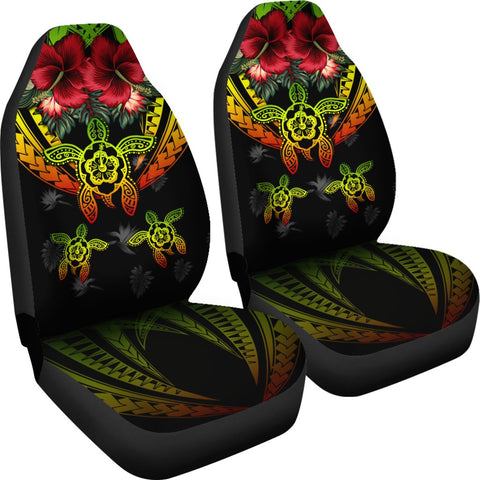 Image of Hawaii Turtle Tropical Polynesian Car Seat Cover - Iris Style - AH - J4
