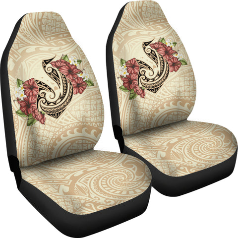 Hawaii Fish Hook Hibiscus Plumeria Polynesian Car Seat Covers - AH - J4 - Alohawaii