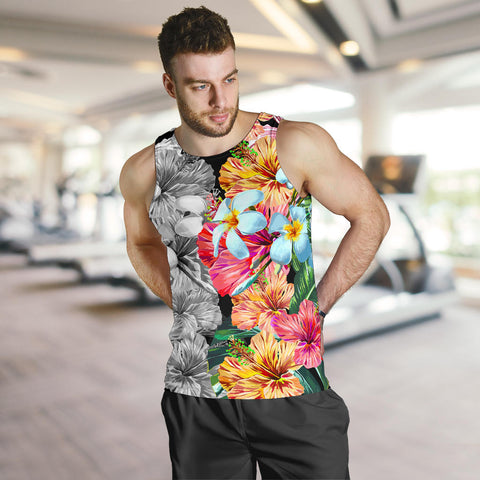 Hawaii Forest Tropical Flower Men's Tank Top - AH - J5