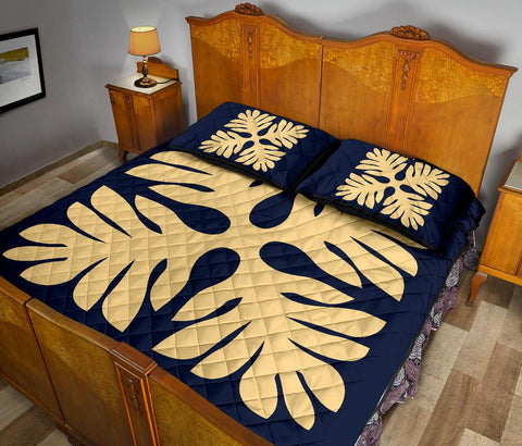 Hawaiian Quilt Bed Set Royal Pattern - AH
