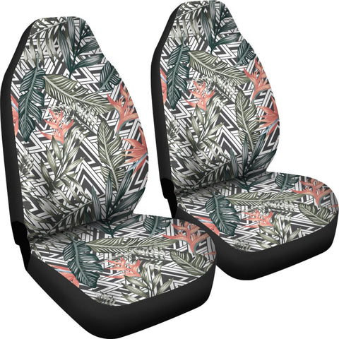 Hawaii Tropical Palm Leaves And Flowers Car Seat Cover - AH - J7 - Alohawaii