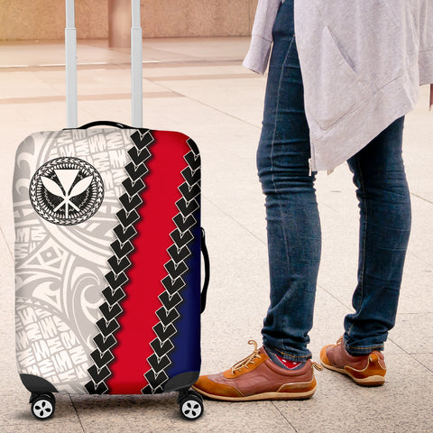 Hawaii Kakau Flag Polynesian Luggage Covers - AH - J4