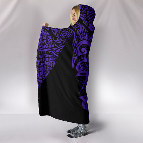 Hawaii Turtle Polynesian Hooded Blanket - Purple - Armor Style - AH J9 - Alohawaii