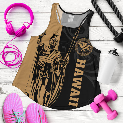 Image of Hawaii King Polynesian Women's Racerback Tank - Lawla Style - AH - J4 - Alohawaii