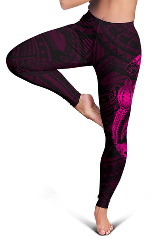 Image of Hawaii Turtle Shark Polynesian Leggings - Pink - AH J4