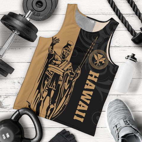 Image of Hawaii King Polynesian Men's Tank Top - Lawla Style - AH - J4