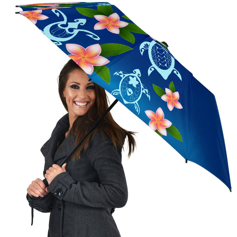 Image of Turtle Polynesian Plumeria Umbrella - AH - J1 - Alohawaii
