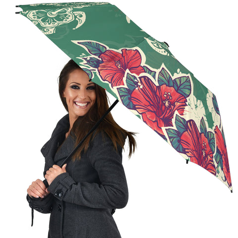 Turtle Hibiscus Red Umbrella - AH - J1 - Alohawaii