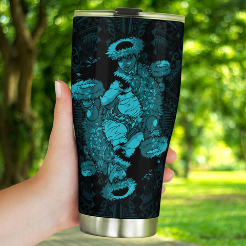 Image of Hawaii Polynesian Hula Girl Tumbler Blue - AH - J5 - Alohawaii