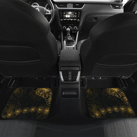 Image of Hawaiian Turtle Hibiscus - Car Floor Mats - Flora Style - AH - J2