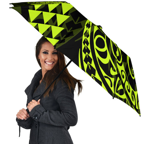 Seal Of Hawaii Polynesian Umbrella Neon - Circle Style - AH J4 - Alohawaii