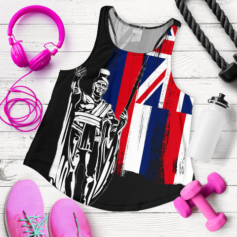 Hawaii King Flag Women's Racerback Tank - AH J4