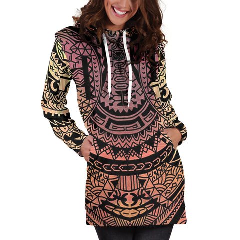 Polynesian Tribal Hoodie Dress - AH - J7 - Alohawaii