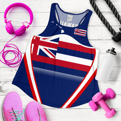 Hawaii Coat Of Arms Women's Racerback Tank Line Sport - AH - J7