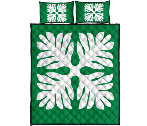 Hawaiian Quilt Bed Set Royal Pattern - P1 Style - AH - J3