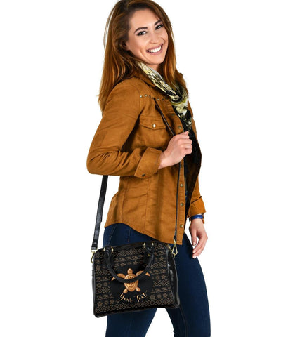 Personalized - Hawaii Turtle Golden Pattern Shoulder Handbag - AH - J4 - Alohawaii