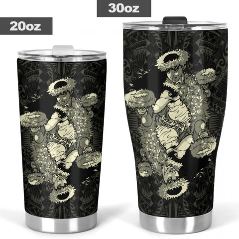 Image of Hawaii Polynesian Hula Girl Tumbler Beige - AH - J5 - Alohawaii