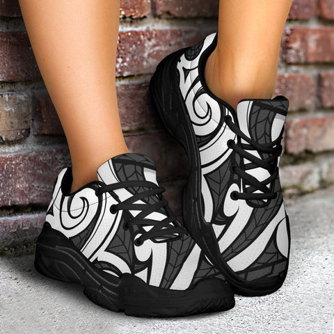 Image of Polynesian Maori Ethnic Ornament Gray Chunky Sneakers - AH - J11