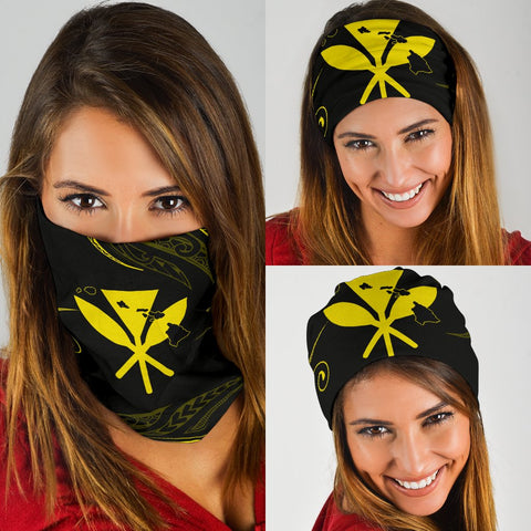 Image of Hawaii Kanaka Map Polynesian Bandana 3-Pack - Yellow  - AH - J4 - Alohawaii