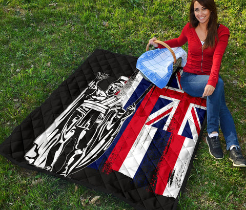 Image of Hawaii King Flag Premium Quilt - AH J4